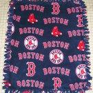 Boston Red Sox Navy Tied Fleece Baby Pet Dog Blanket MLB