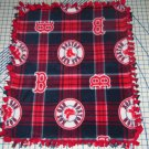 Boston Red Sox Plaid Tied Fleece Baby Pet Dog Blanket MLB