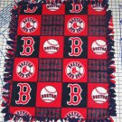 Boston Red Sox Patchwork Tied Fleece Baby Pet Dog Blanket MLB