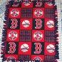 Boston Red Sox Patchwork Tied Fleece Baby Pet Dog Blanket MLB