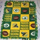 Green Bay Packers Patchwork Fleece Baby Pet Dog Blanket NFL