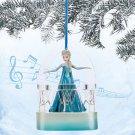 Disney Store Frozen Elsa Singing Sketchbook Christmas Ornament 2014