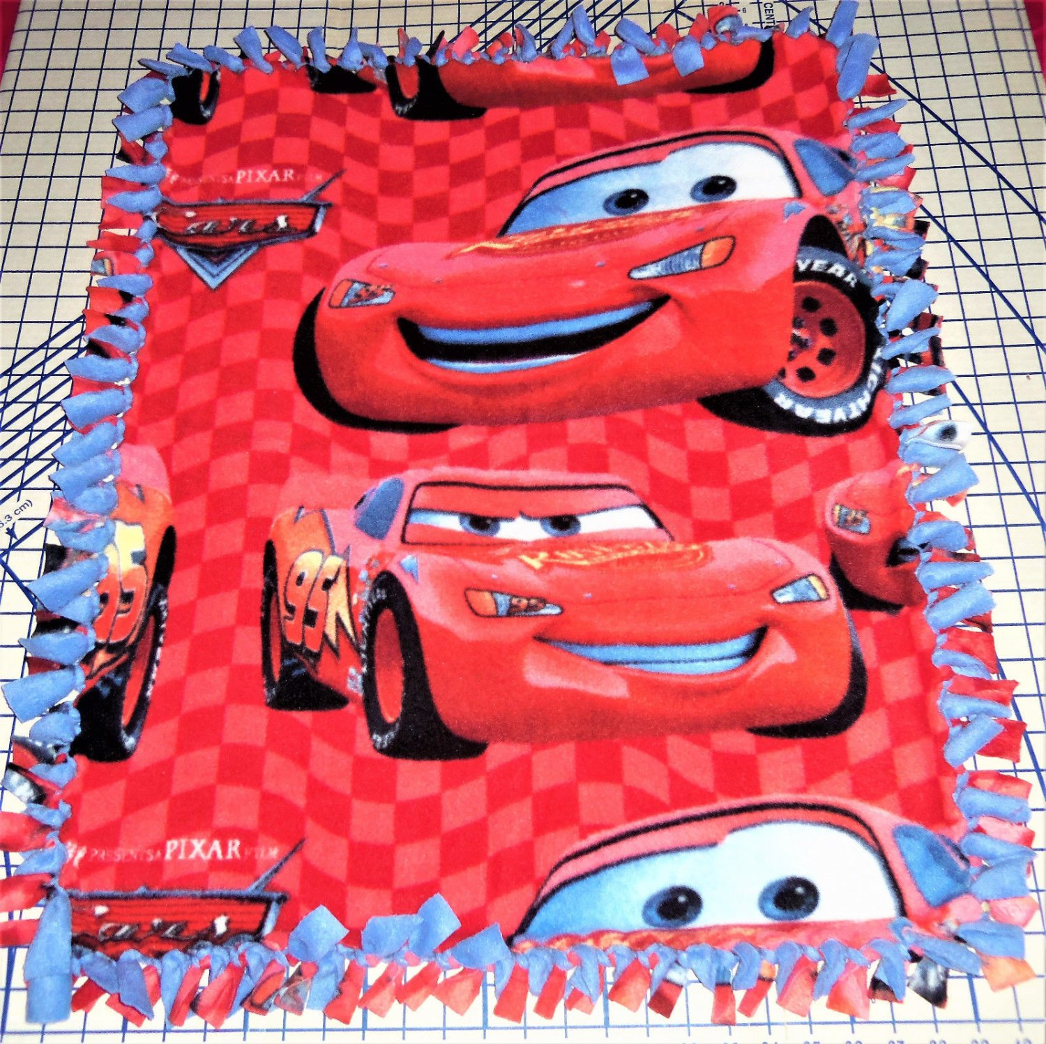 "Disney Fleece Baby Blanket  Cars Red Pet Lap 30"" x 24""  New"