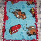 "Disney Fleece Baby Blanket  Cars Blue Pet Lap 30"" x 24""  New"