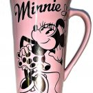 Disney Store Tall Latte Coffee Mug Minnie Mouse Pink