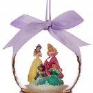 Disney Christmas Glass Ornament Ariel Aurora Belle Jasmine Theme Park