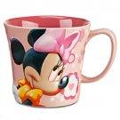 Disney Store Minnie Mouse Coffee Mug Cup Springtime Floral 2014 New