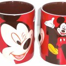 Disney Store Mickey Mouse Coffee Mug Pink Red New