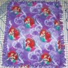 Disney Ariel Mermaid Purple Fleece Blanket Baby Pet Lap Princess