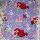 Disney Ariel Mermaid Purple Castle Fleece Blanket Baby Pet Lap Princess