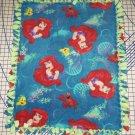 Disney Ariel Mermaid Flounder Fleece Blanket Baby Pet Lap Princess Gotta Sing
