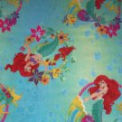 Disney Ariel Mermaid Flounder Blanket Green Blue Hand Tied Fleece Baby Pet Lap Princess