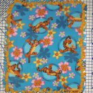 Disney Winnie the Pooh Tigger Blue Fleece Baby Blanket Pet Lap Hand Tied New