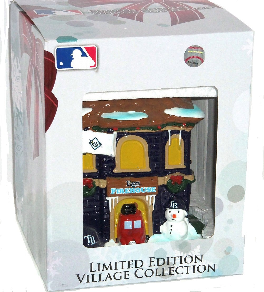 Firehouse Forever Collectibles Tampa Bay Rays Christmas Village