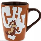 Disney Store Character Mug Chip and Dale 2016 Brown New