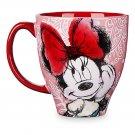 Disney Store Coffee Mug Minnie Mouse Pattern 2017