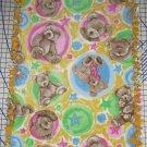 "Boyds Bears Gold Fleece Baby Blanket Pet Lap Hand Tied 30"" x 24"" New"