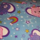 "Care Bears Blue Fleece Baby Blanket Pet Lap Hand Tied 30"" x 24"" New"