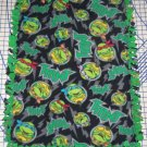 "Teenage Ninja Turtles Fleece Baby Blanket Pet Lap Hand Tied 30"" x 24"" New"