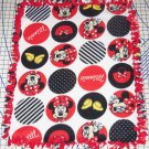"""Disney Fleece Baby Blanket Minnie Mouse Circles Pet Lap 30"""" x 24"""""""