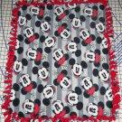 Disney Mickey & Minnie Mouse Gray Blanket Hand Tied Fleece Baby Pet Lap