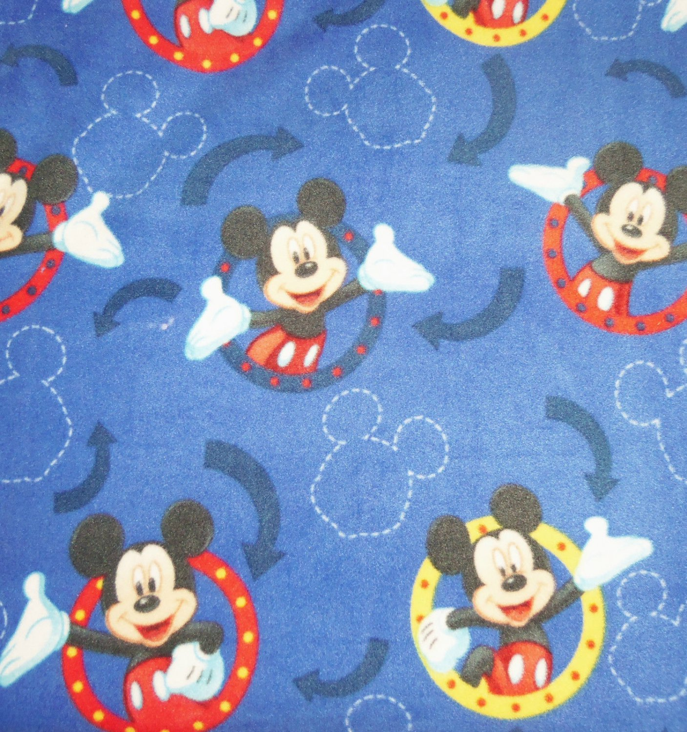 Disney Mickey Mouse Frames Blue Blanket Hand Tied Fleece Baby Pet Lap