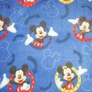 Disney Mickey Mouse Frames Blue Blanket Hand Tied Fleece Baby Pet Lap
