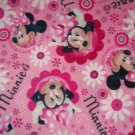 Disney Minnie Mouse Pink Floral Blanket Hand Tied Fleece Baby Pet Lap