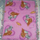 "Disney Lady and the Tramp Purple Fleece Baby Blanket Pet Lap 24"" x 30"""