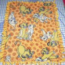 "Disney Simba Fleece Baby Blanket Pet Lap 24"" x 30"" The Lion King"