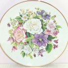 Majesty Rose Flowers Collector Plate The Franklin Mint Beauty Acsending