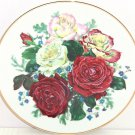 Majesty Rose Flowers Collector Plate The Franklin Mint Fragrant Glory