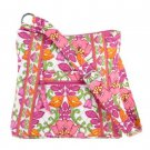 Vera Bradley Hipster Bag Shoulder Handbag Purse Crossbody LIlli Bell