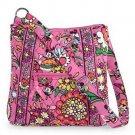Vera Bradley Disney Hipster Pink Handbag Purse Mickey Minnie Just Mousing Around
