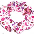 Pink Panther Meow Fabric Hair Scrunchies