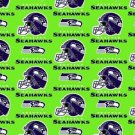 Seattle Seahawks Football Lime Green Fabric Hair Scrunchies NFL