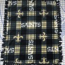 New Orleans Saints Blanket Plaid Fleece Baby Pet Lap NFL Football