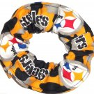 Pittsburgh Steelers Football Limited Edition Camo Fabric Hair Scrunchie Scrunchies NFL