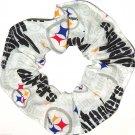 Pittsburgh Steelers Football White Fabric Hair Scrunchie Scrunchies NFL