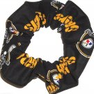 Pittsburgh Steelers Black Fabric Hair Scrunchie Scrunchies NFL