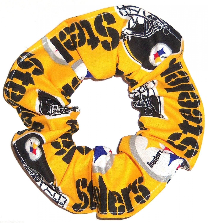 Pittsburgh Steelers Gold Football Fabric Hair Scrunchies Scrunchie NFL