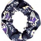 Baltimore Ravens Black Fabric Hair Scrunchies NFL