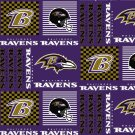 Baltimore Ravens Patchwork Fabric Hair Scrunchies NFL
