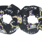 2 Baltimore Ravens Football Black Fabric Mini Hair Scrunchies Scrunchie NFL
