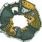 Green Bay Packers Football Patchwork  Fabric Hair Scrunchie Scrunchies NFL