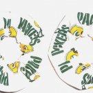 2 Green Bay Packers Football Fabric Mini Hair Scrunchies Scrunchie NFL