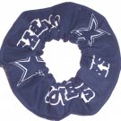 Dallas Cowboys Football New Blue Fabric Hair Scrunchie Scrunchies NFL