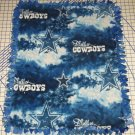 Dallas Cowboys Blanket Tie-Dyed Blue Soft Fleece Baby Pet Dog Lap NFL Football