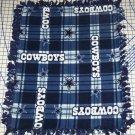 Dallas Cowboys Baby Blanket Football Plaid Hand Tied Fleece Pet Lap NFL Gift