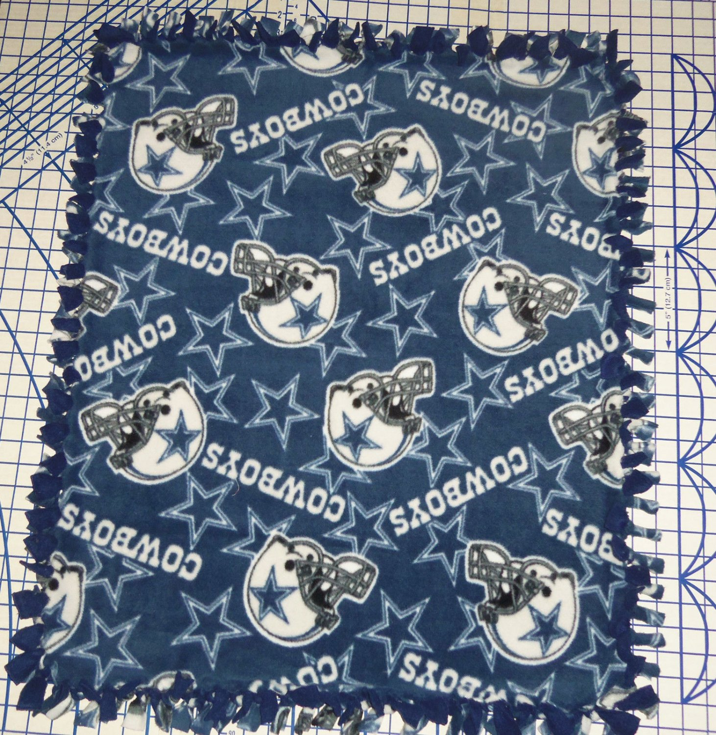 Dallas Cowboys Fleece Baby Pet Blanket Hand Tied NFL Football